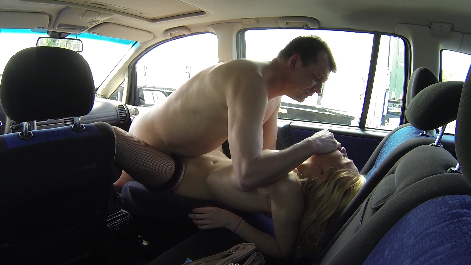 Beautiful Young Blonde Bitch Picked for car sex