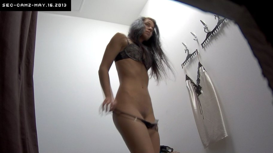 Young czech girl fitting bra and panties in lingerie store 8